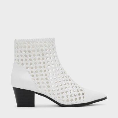 ブレイドディテールアンクルブーツ / BRAID DETAIL ANKLE BOOTS (White)