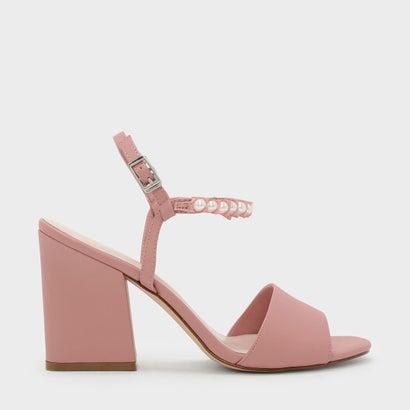 パールエンベリッシュサンダル / PEARL EMBELLISHED SANDALS (Pink)
