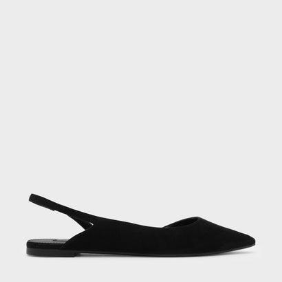 スリングバックドルセイフラット / SLINGBACK D'ORSAY FLATS (Black)