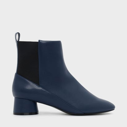 シリンドリカルヒールチェルシーブーツ / CYLINDRICAL HEEL CHELSEA BOOTS (Blue)
