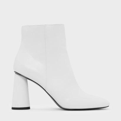 スクエアトゥカフブーツ / SQUARE TOE CALF BOOTS (White)
