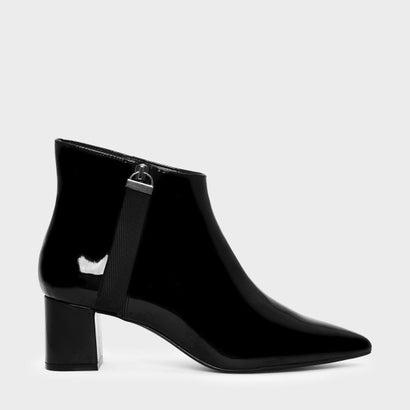 ナイロンストラップディテールポインテッドブーツ / NYLON STRAP DETAIL POINTED BOOTS (Black)