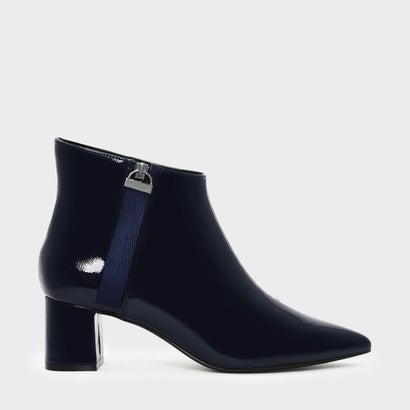 ナイロンストラップディテールポインテッドブーツ / NYLON STRAP DETAIL POINTED BOOTS (Dark Blue)