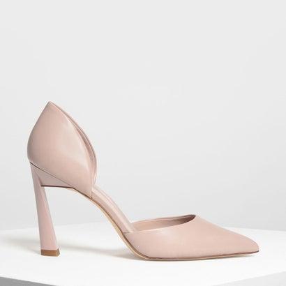 ポインテッドディテール ヒール / POINTED D'ORSAY HEELS (Pink)