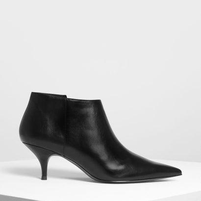 ポインテッドアンクルブーツ / POINTED ANKLE BOOTS (Black)