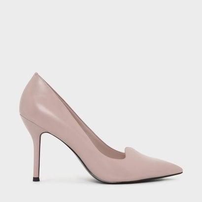 アシンメトリ トップライン パンプス / ASYMMETRICAL TOPLINE PUMPS (Pink)