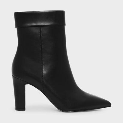 カフディーテルポインテッドブーツ / CUFF DETAIL POINTED BOOTS (Black)