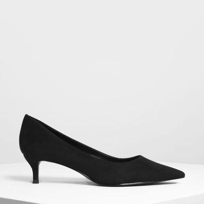 クラシックキトゥンヒールパンプス / Classic Kitten Heel Pumps (Black)