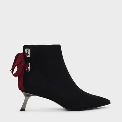 スラントヒールアンクルブーツ / Slant Heel Ankle Boots (Black)