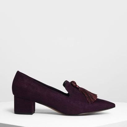 スエード ブロックヒール ローファー / Suede Brock Heels Loafer (Purple)