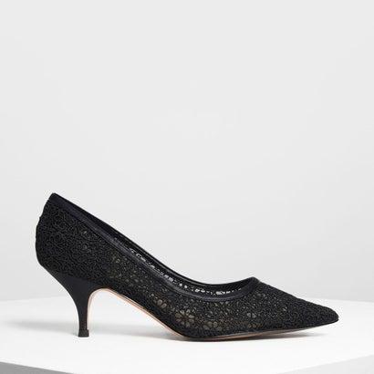 クロッシェレースパンプス / Crochet Lace Pumps (Black)