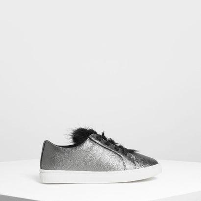 キッズ メタリック スニーカー / Kids Metallic Sneakers (Pewter)