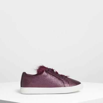 キッズ メタリック スニーカー / Kids Metallic Sneakers (Purple)