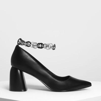 チェーン アンクレットディテール パンプス / Chain Anklet Detail Pumps (Black)