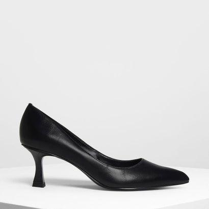 スカルプチャル ヒール パンプス / Sculptural Heel Pumps (Black)