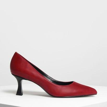 スカルプチャル ヒール パンプス / Sculptural Heel Pumps (Red)