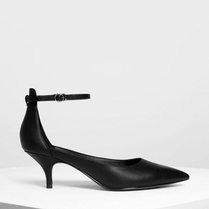 ポインテッド アンクルストラップ ヒール / Pointed Ankle Strap Heels (Black)