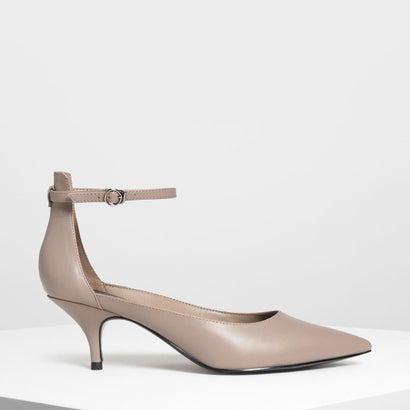 ポインテッド アンクルストラップ ヒール / Pointed Ankle Strap Heels (Taupe)