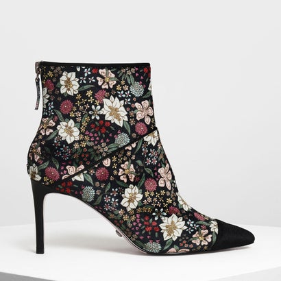 ベルベット アンクルブーツ / Velvet Ankle Boots (Multi)