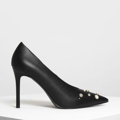 アート モダンヒール パンプス / Art Moderne Heels Pumps (Black)