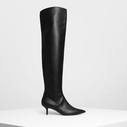 クラシックポインテッドサイハイブーツ / Classic Pointed Thigh High Boots (Black)
