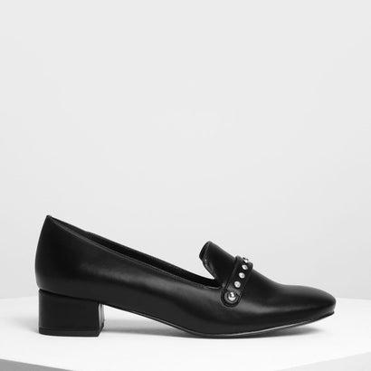 エンベリッシュド ローファー / Embellished Loafers (Black)