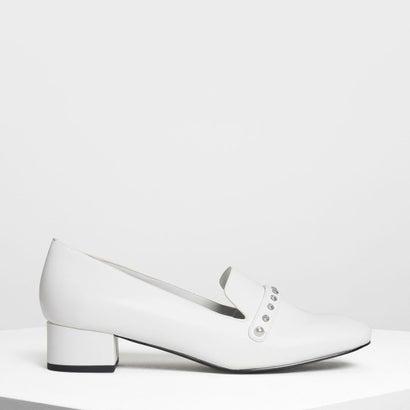 エンベリッシュド ローファー / Embellished Loafers (White)