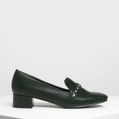 エンベリッシュド ローファー / Embellished Loafers (Dark Green)