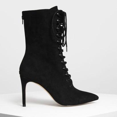 スピード レースディテール ポインテッド ブーツ / Speed Lacing Detail Pointed Boots (Black)