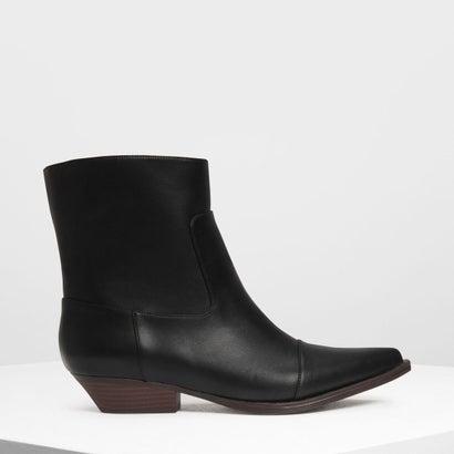 ポインテッド カフブーツ / Pointed Calf Boots (Black)