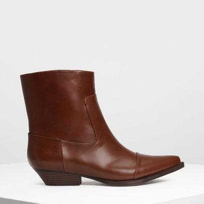 ポインテッド カフブーツ / Pointed Calf Boots (Cognac)