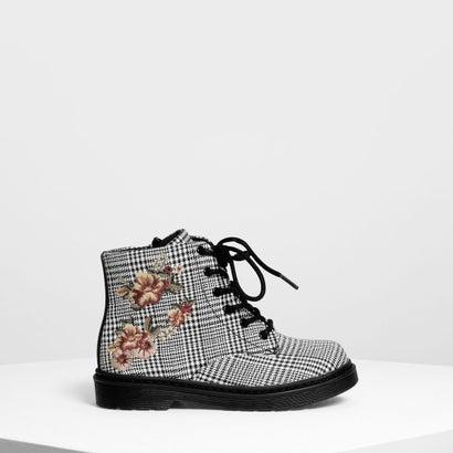 キッズ フローラル エンブロイダリー ブーツ / Kids Floral Embroidery Boots (Multi)
