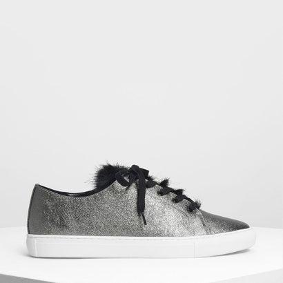 メタリックスニーカー / Metallic Sneakers (Pewter)