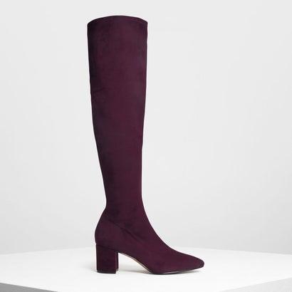 クラシックニーブーツ / Classic Knee Boots (Purple)