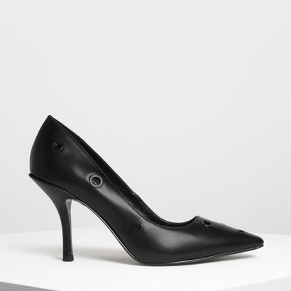 アイレットディテール ヒール / Eyelet Detail Heels (Black)