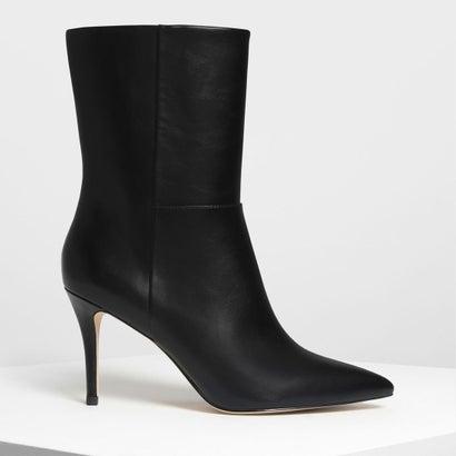 クラシック ポインテッド カフブーツ / Classic Pointed Calf Boots (Black)