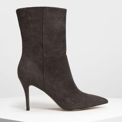 クラシック ポインテッド カフブーツ / Classic Pointed Calf Boots (Military Green)