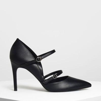 ダブルストラップ メリージェーン ヒール / Double Strap Mary Jane Heels (Black)
