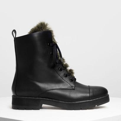 ファーディテール コンバットブーツ / Furry Detail Combat Boots (Multi)