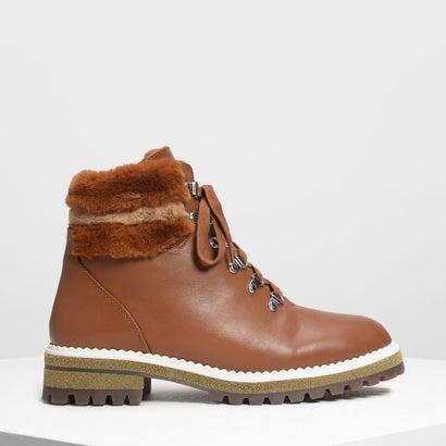 スピードレーシングディテール ハイキングブーツ / Speed Lacing Detail Hiking Boots (Cognac)