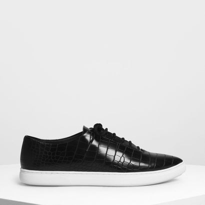 ポインテッド スニーカー / Pointed Sneakers (Black Textured)