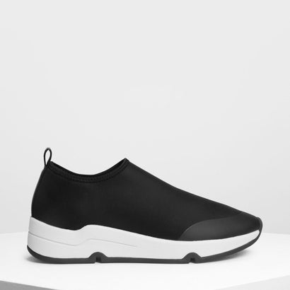 ライクラ スリッポンスニーカー / Lycra Slip On Sneakers (Black)