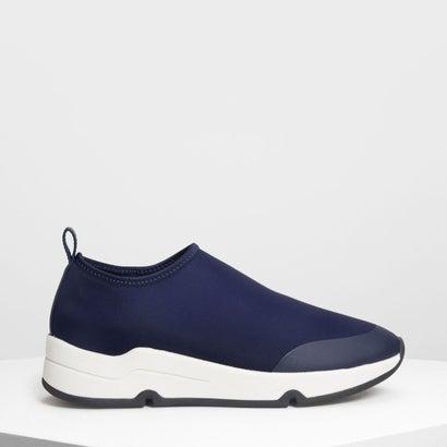 ライクラ スリッポンスニーカー / Lycra Slip On Sneakers (Dark Blue)