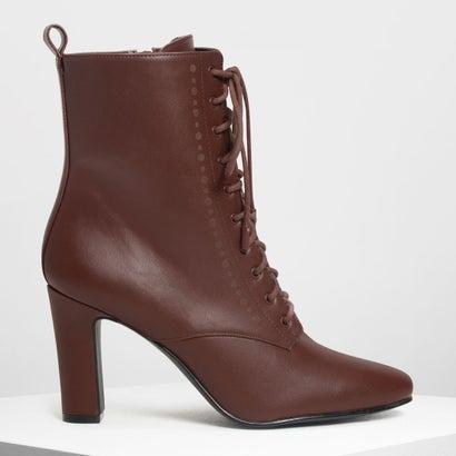 レースアップ カフブーツ / Laced Up Calf Boots (Brown)