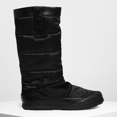 パフッド カフブーツ / Puffed Calf Boots (Black)