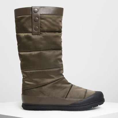 パフッド カフブーツ / Puffed Calf Boots (Military Green)
