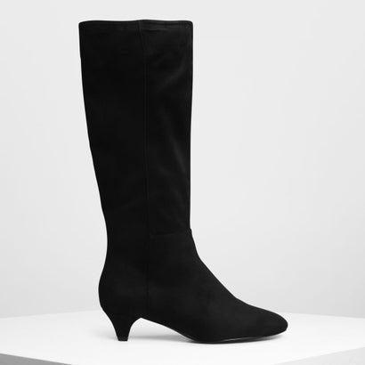 キトゥンヒール ニーブーツ / Kitten Heel Knee Boots (Black)