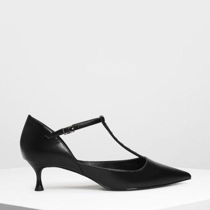 エンベリッシュド ティーバーヒール / Embellished T-Bar Heels (Black)