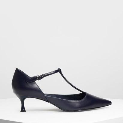 エンベリッシュド ティーバーヒール / Embellished T-Bar Heels (Dark Blue)
