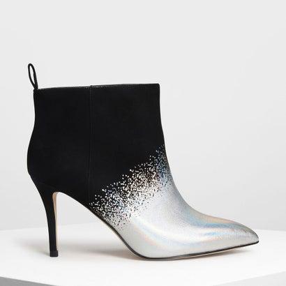 ポインテッド アンクルブーツ / Pointed Ankle Boots (Black Textured)